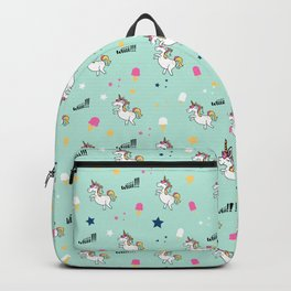 world of unicorns and ice cream Backpack