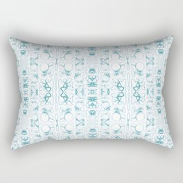 Arabidopsis thaliana (thale cress) root vacuole microscopy pattern teal Rectangular Pillow
