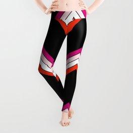 V Shape Native Summer Retro Stripes Pattern Medaw Leggings