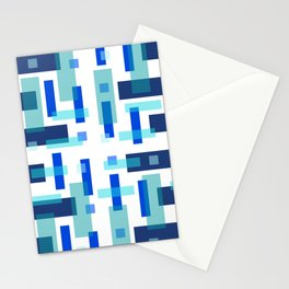 Blue Block City Stationery Cards