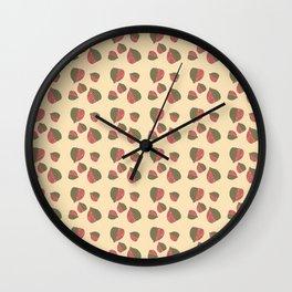 Strawberry Leaf Pattern Wall Clock