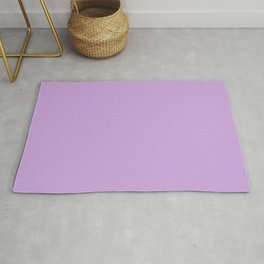 From The Crayon Box – Wisteria Purple - Pastel Purple Solid Color Rug