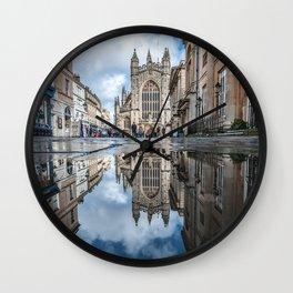 bath abbey relections Wall Clock