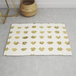 Kiss Collection – Gold Ink Rug