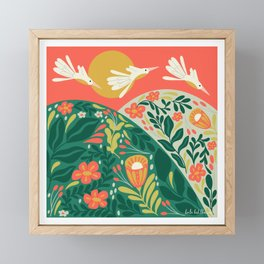Harvest Moon Folk Collection   Sunset Framed Mini Art Print