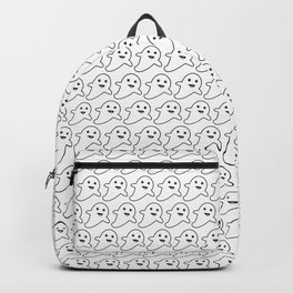 Ghost Print Happy Face for Halloween Backpack