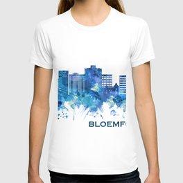 Bloemfontein South Africa Skyline Blue T-shirt