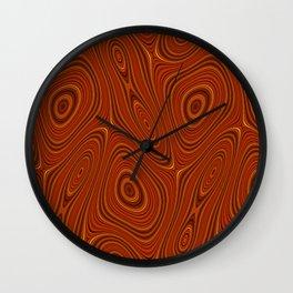 Amber Lava 15 Hi Res Wall Clock