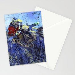 Motocross Dirt-Bike Championship Race Stationery Cards
