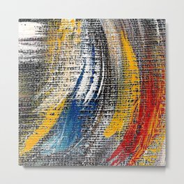 Multi multi color Metal Print