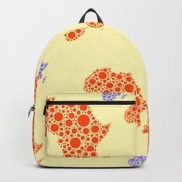 Mama Africa Colored Pattern Orange Background Backpack