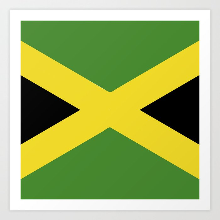 Jamaica Flag Emblem Art Print By Textures Society6
