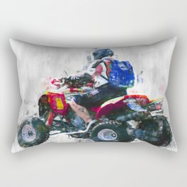 Quad racing Rectangular Pillow