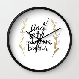 The Adventure Begins Wall Clock