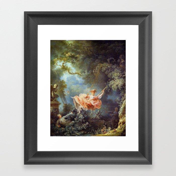 Jean-Honoré Fragonard - The Swing Gerahmter Kunstdruck