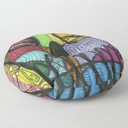 Art is my drug Floor Pillow