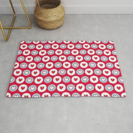 Girly love theme-hearts on parade-cute heart pattern Rug