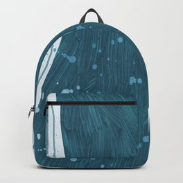 Trendy Abstract Collection: River of Teal Backpack
