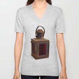 Old rusty lantern Unisex V-Neck