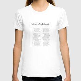 Ode to a Nightingale by John Keats T-shirt