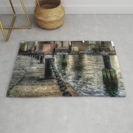 Boston Harbor walk Rug