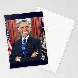 official portrait of Barack Obama Stationery Cards
