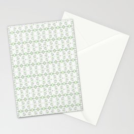 Modern Polynesian Neo Tribal Micro Print Minimalist Light Green Stationery Cards