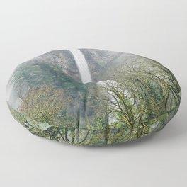 Misty Multnomah Falls, Oregon Floor Pillow