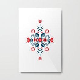 Scandinavian Folk Pattern Metal Print
