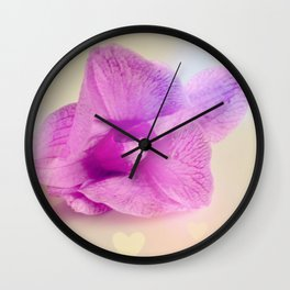 Pink and Real Wall Clock