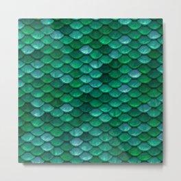 Green Penny Scales Metal Print
