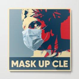Masked Cleveland Guardian Metal Print