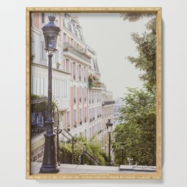 Montmartre Stairs - Paris Travel Photography Serving Tray