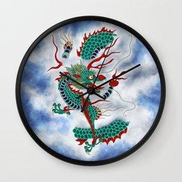 Dragon in the Cloud Type G: Minhwa-Korean traditional/folk art Wall Clock