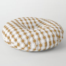 Geometric Multi Droplets Pattern - Earth Tones in Chocolate Brown & Cream Floor Pillow