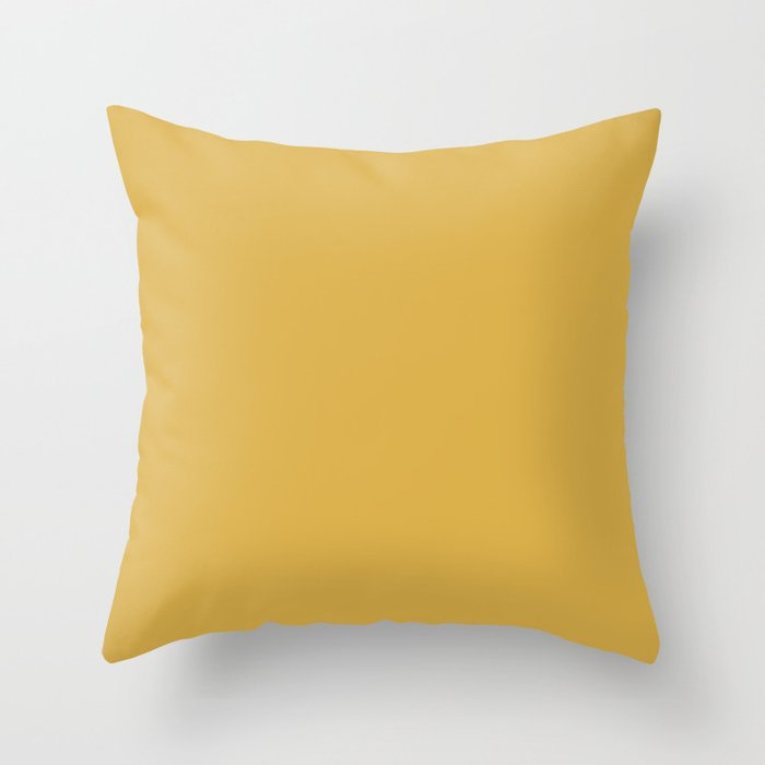 Sherwin Williams Trending Colors of 2019 Nugget (Golden Yellow) SW 6697 Solid Color Throw Pillow