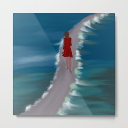 Escaping To The Beach Metal Print