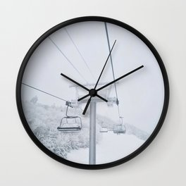Skiing in New Hampshire Wall Clock