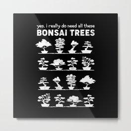 Bonsai Tree Care Penjing Gardening Gift Metal Print