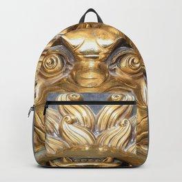 Golden Lion Gate Knocker Backpack