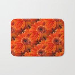 daisy pattern orange Badematte
