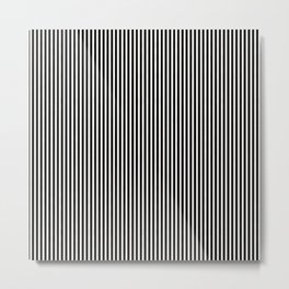 Simple Black & White Licorice Cabana Stripe Metal Print