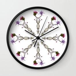 Scottish Thistle and Italian Cardo Wall Clock