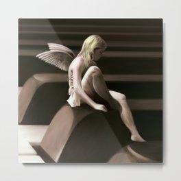 Piano Fairy - Natural Metal Print