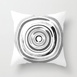 Enso Circles - Zen Circles #1 Throw Pillow