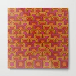 Geometric Retro Pattern Metal Print