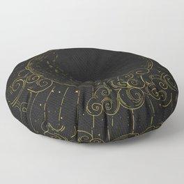 Mystical Dark Moon Floor Pillow