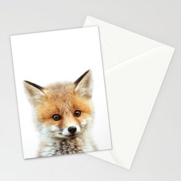 Baby Fox, Baby Animals Art Print By Synplus Stationery Cards