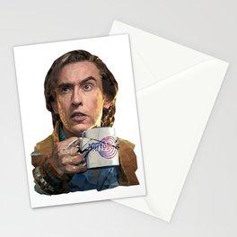 Alan Partridge low poly portrait Stationery Cards