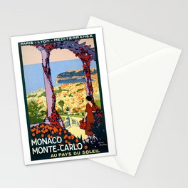 Vintage Monaco Monte Carlo Travel 1920 Stationery Cards